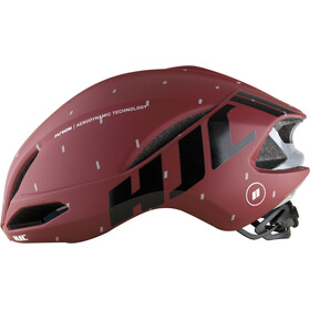 HJC Furion casco per bici, matt pattern red